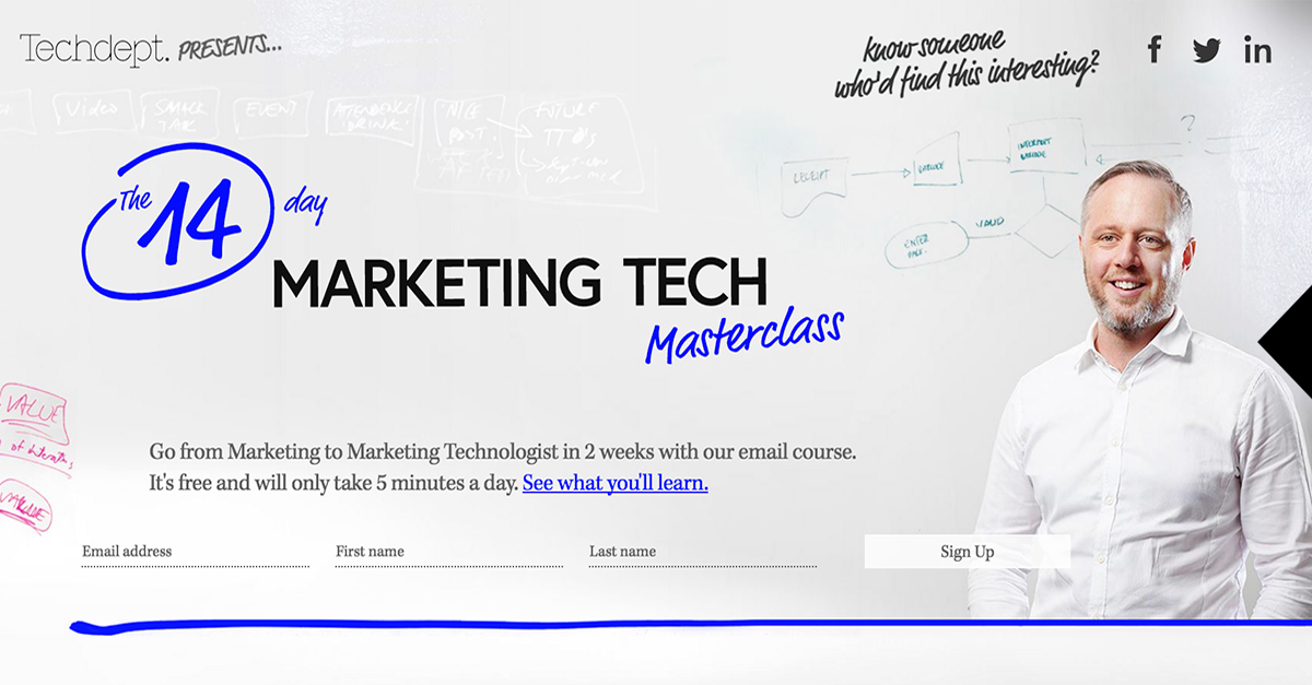 Techdept Masterclass Email Course